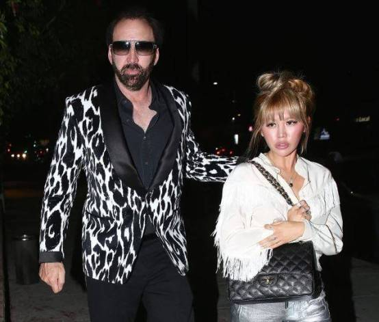 Nicolas Cage and Erika Koike pictured in Las Vegas in 2018.