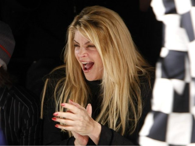 CULVER CITY, CA - MARCH 09: Actress Kirstie Alley in the front row at the Whitley Kros Fall 2008 fashion show during Mercedes-Benz Fashion Week held at Smashbox Studios on March 9, 2008 in Culver City, California. (Photo by Michael Buckner/Getty Images for IMG)