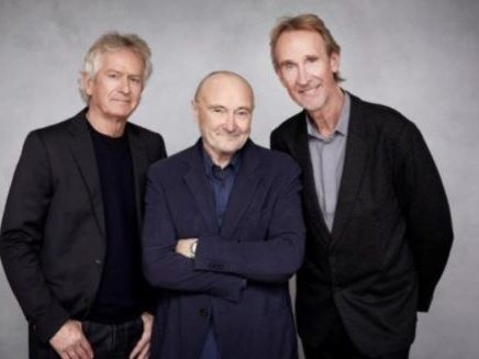 From left to right: Tony Banks, Phil Collins, Mike Rutherford